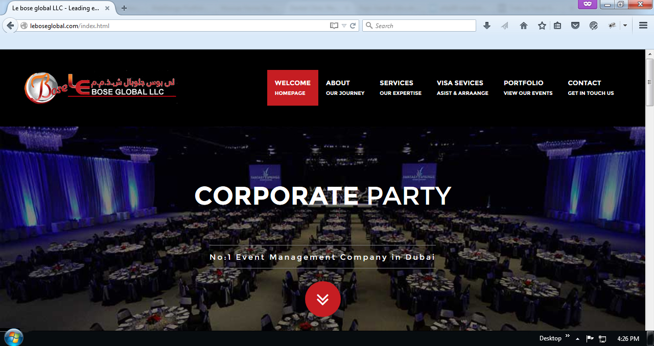 Event Management Website Design