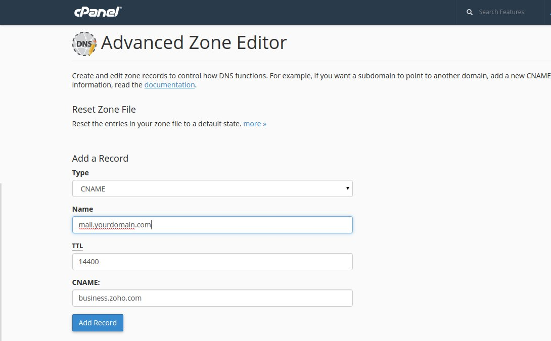 Add DNS Zone cPanel