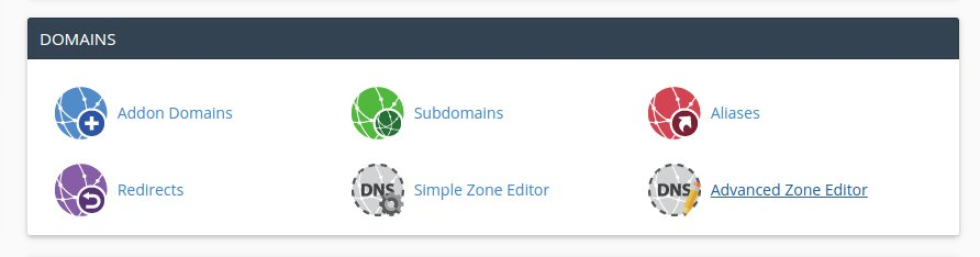 cPanel Advanced Zone Editor