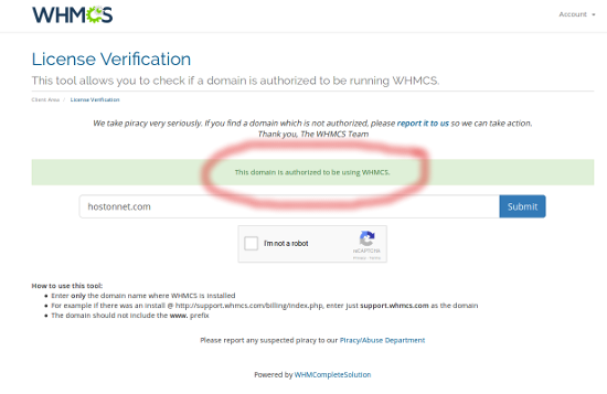 whmcs license verification