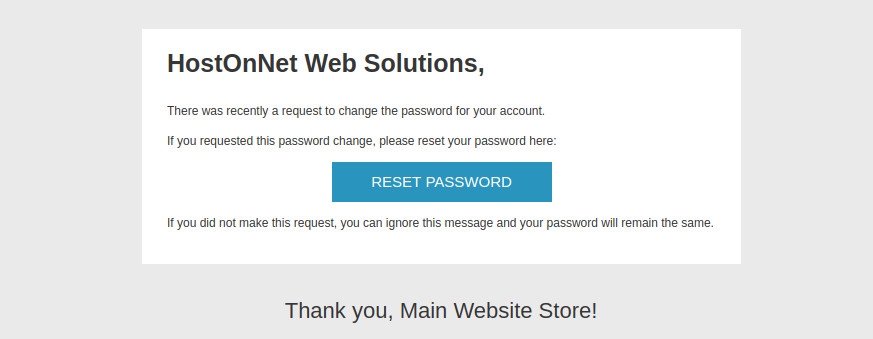 magento reset password link