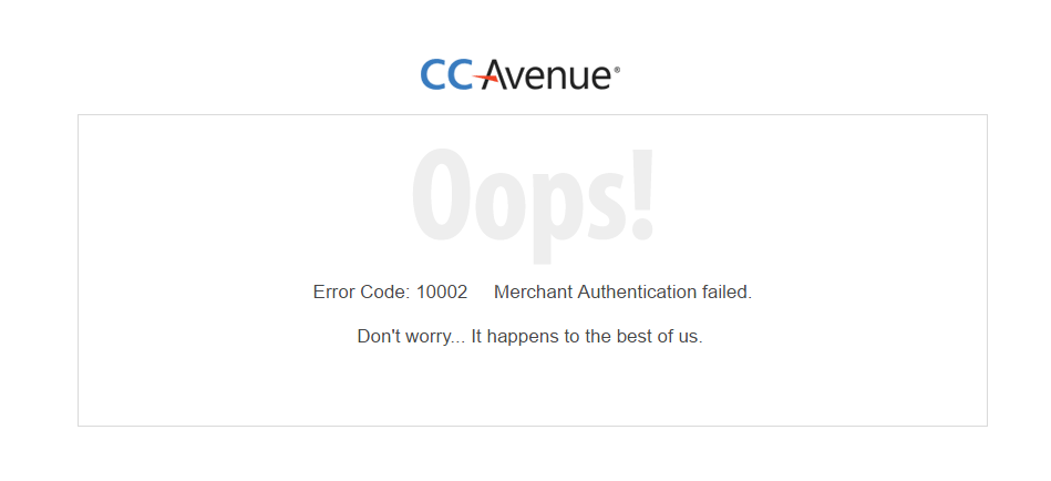 CCAvanue WordPress Plugin error