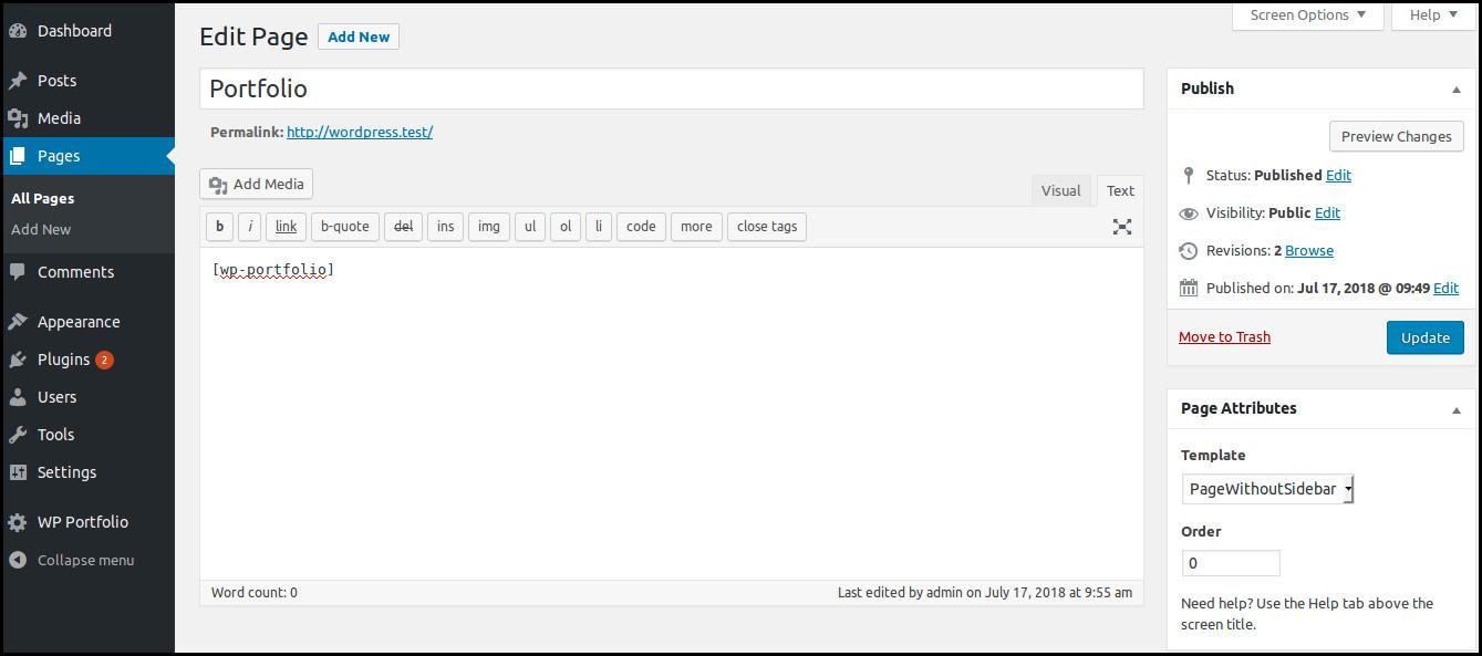 How to create website portfolio in WordPress | HostOnNet com