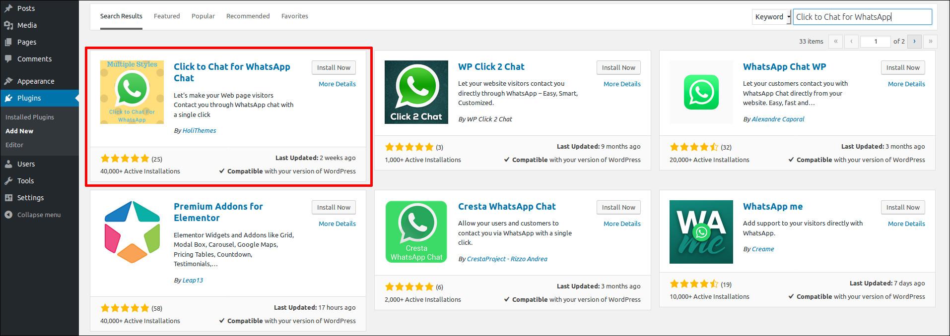 How to add WhatsApp Chat to WordPress | HostOnNet com