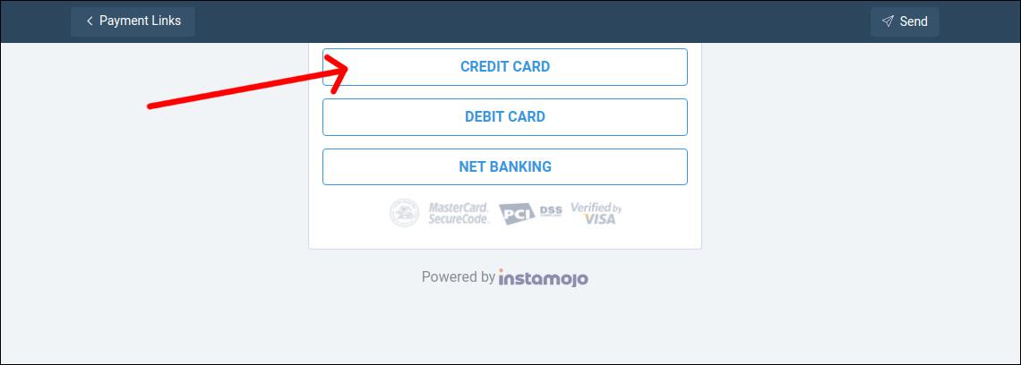 instamojo credit card