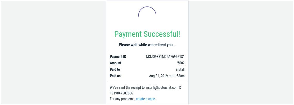 instamojo payment success