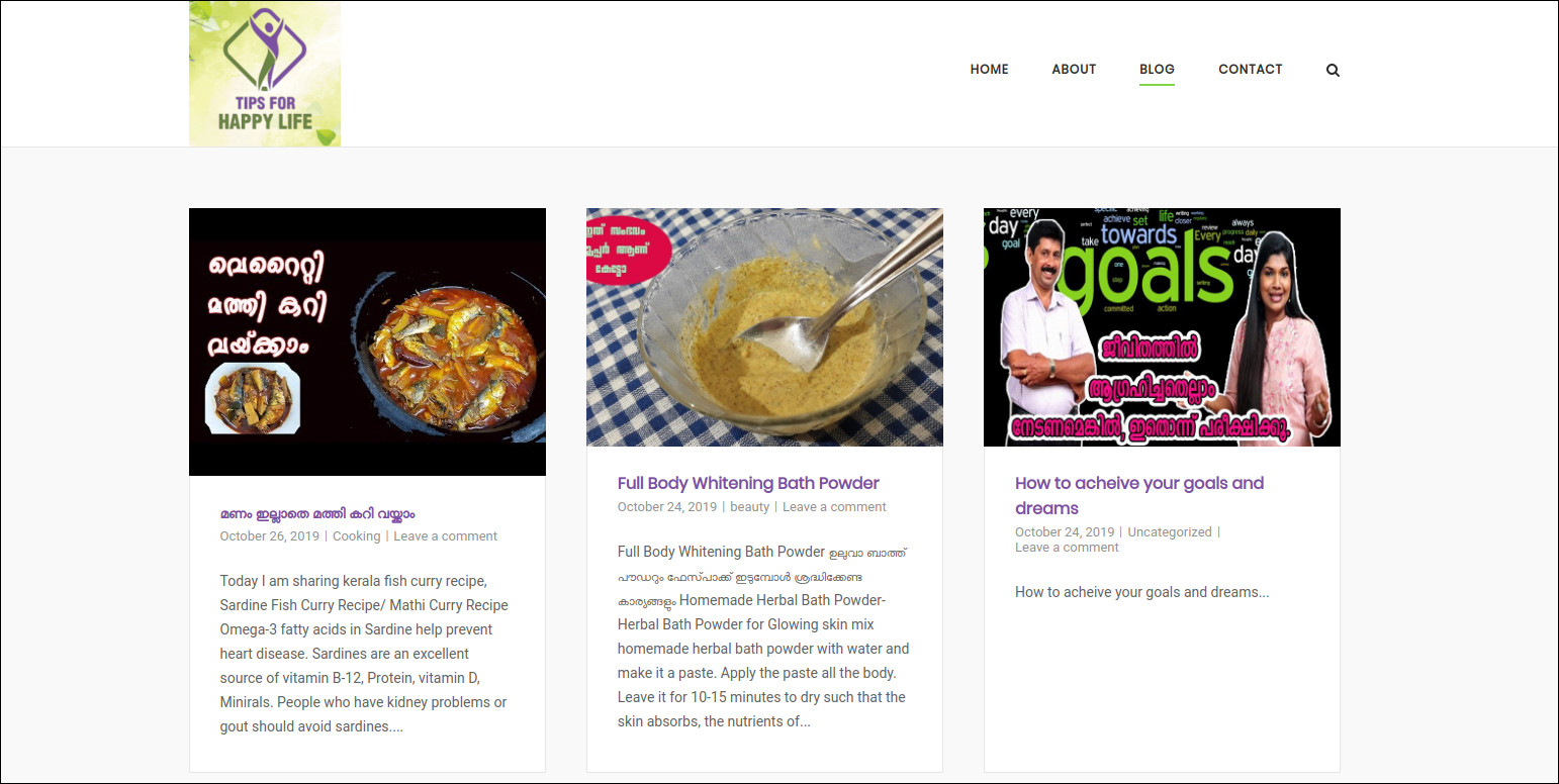 wordpress blog archive